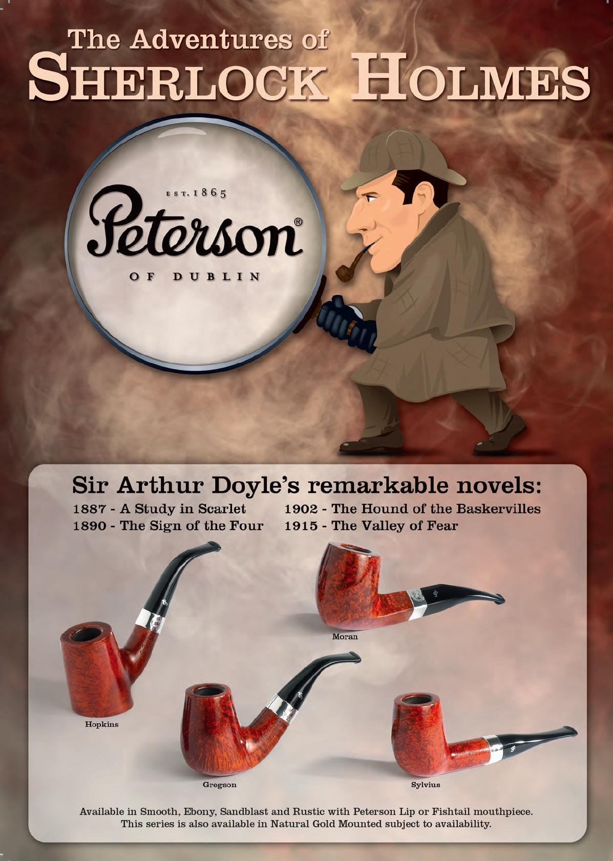 NEW Peterson Pipe Ebony 314 Smooth P Lip
